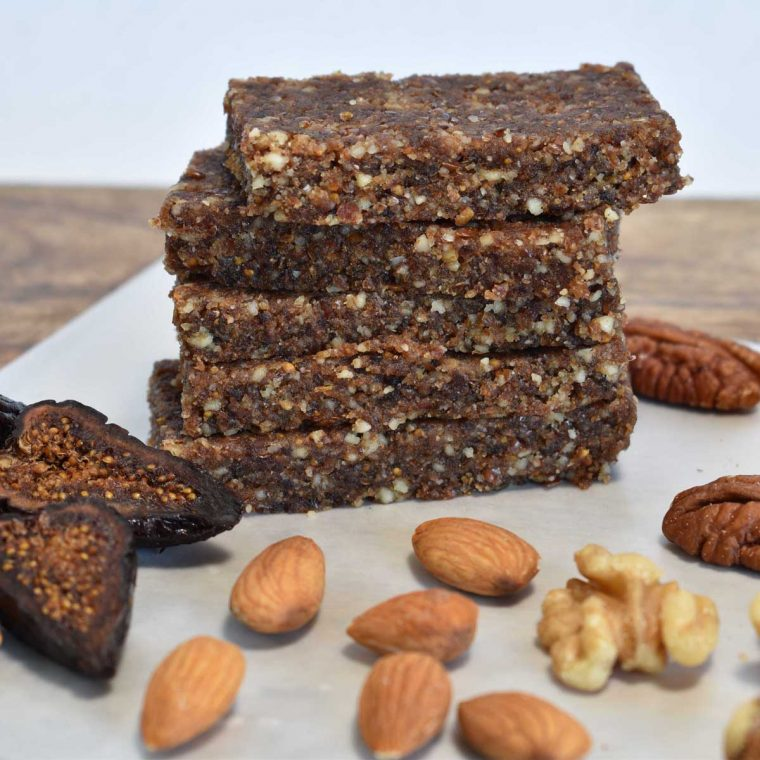Crumbly Fig Nut Energy Bars